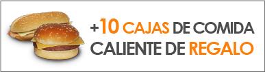 10 CAJAS DE COMIDA CALIENTE DE REGALO