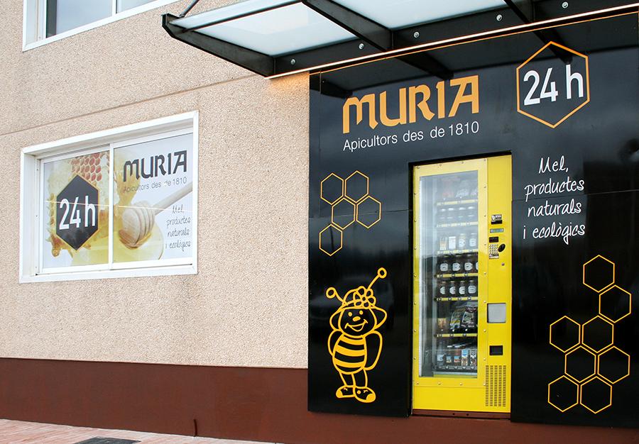 Foto tienda automática Miel Muria