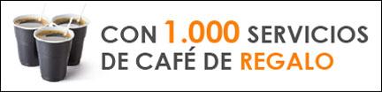 1000 servicios café gratis de regalo