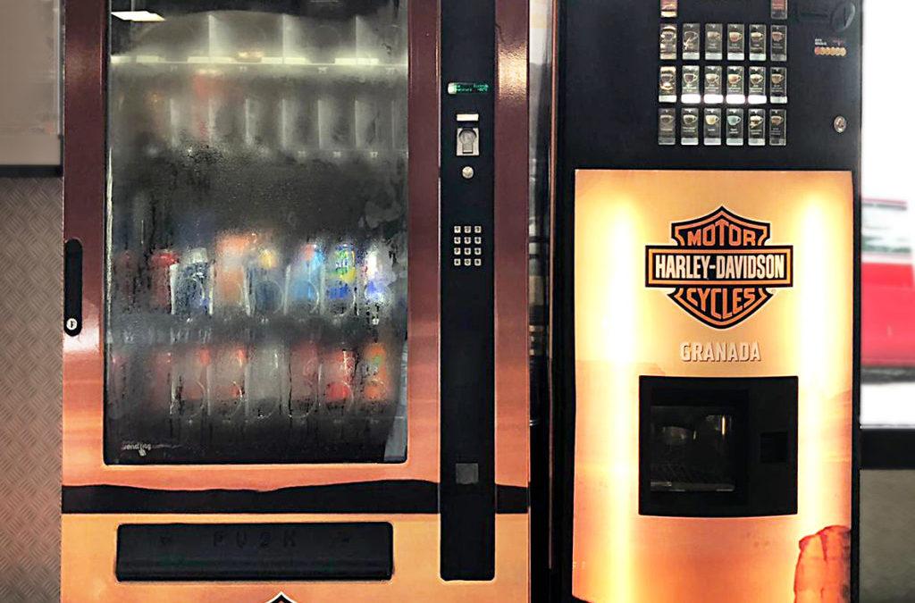 Máquinas vending personalizadas Harley Davidson