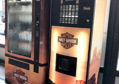 Maquinas vending Harley Davidson